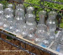 glam up your glassware a diy post our fairfield home garden, crafts, flowers, home decor, Faux Mercury Glass dries outside