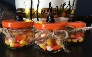 halloween candy jar a quick easy craft , crafts, halloween decorations, seasonal holiday decor
