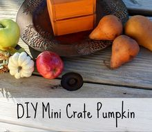 diy mini crate pumpkin, home decor