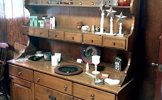 ethan allen china cabinet gets a split personality, kitchen cabinets, kitchen design, painted furniture