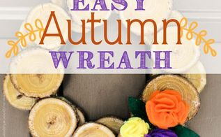 simple wood slice autumn wreath, crafts, seasonal holiday decor, wreaths
