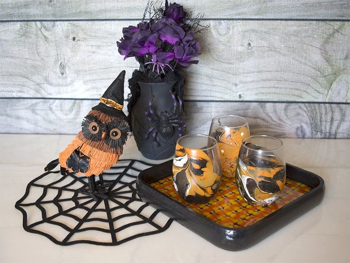 halloween candy corn serving tray halloween decorations seasonal holiday decor - Candy Corn Halloween Decorations