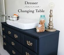 dresser to a changing table, painted furniture