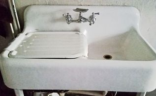quick n easy non toxic diy cleaner to make your faucet sparkle agai, plumbing, I love my NEW 100 years old vintage sink