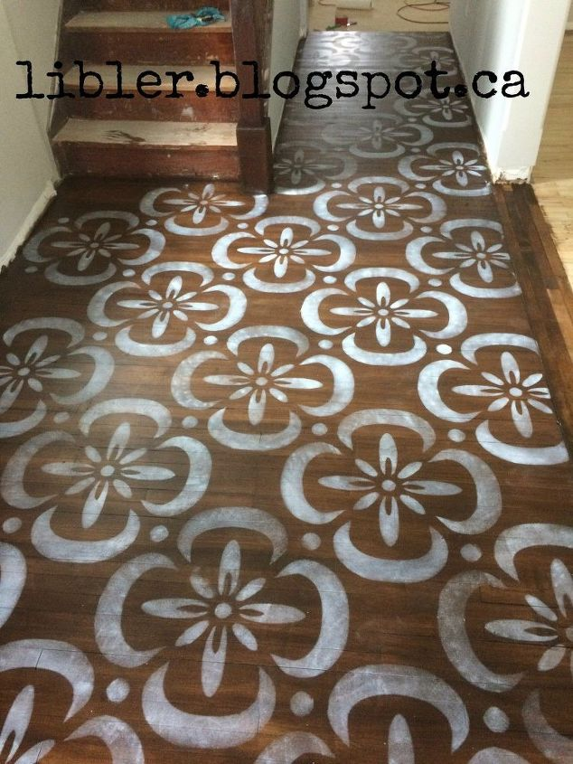 Stenciled Hardwood Floor Stencil Made With Sihouette
