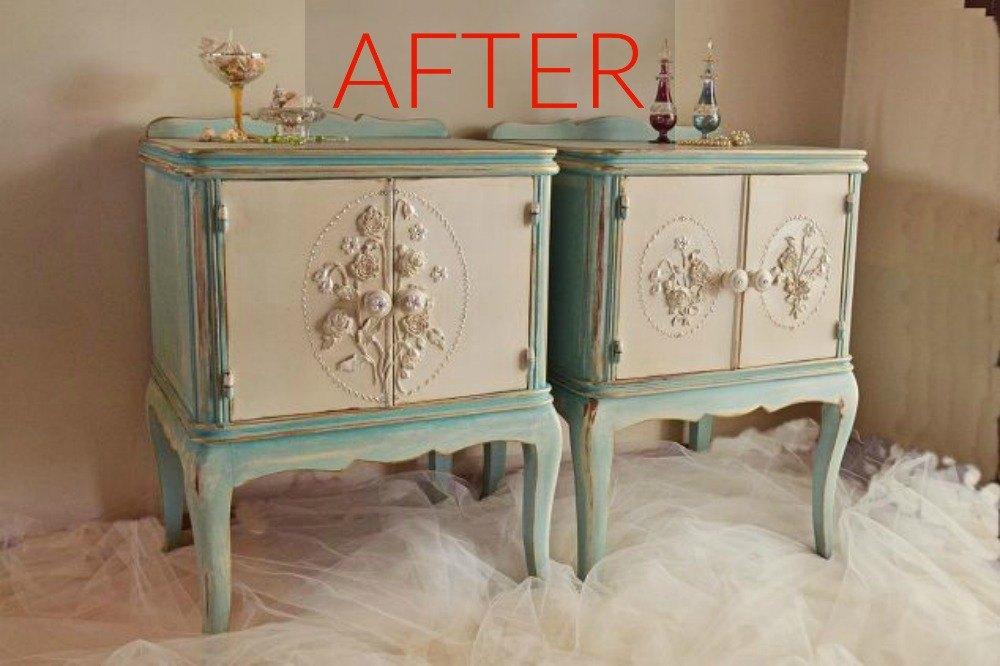 After: Elegant vintage nightstands - 9 Expensive-Looking Flips For Your Old  Furniture Hometalk - Looking For Antique Furniture Antique Furniture