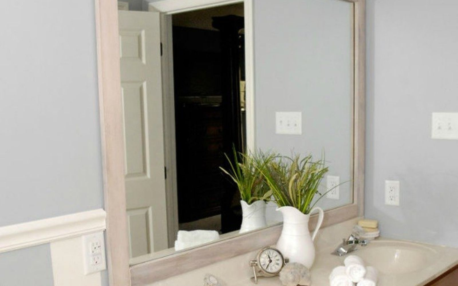 Bathroom Mirror Glued To Wall 10 stunning ways to transform your bathroom mirror without