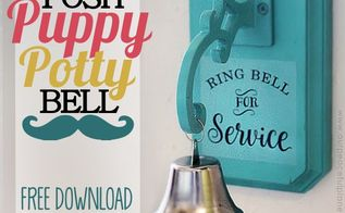 posh dog potty bell, crafts, doors, gardening, how to, painting, pets animals