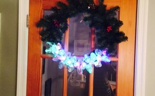 upcyled christmas wreath, crafts, wreaths