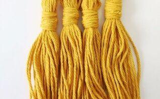 diy yarn tassel tutorial made using a fork , how to