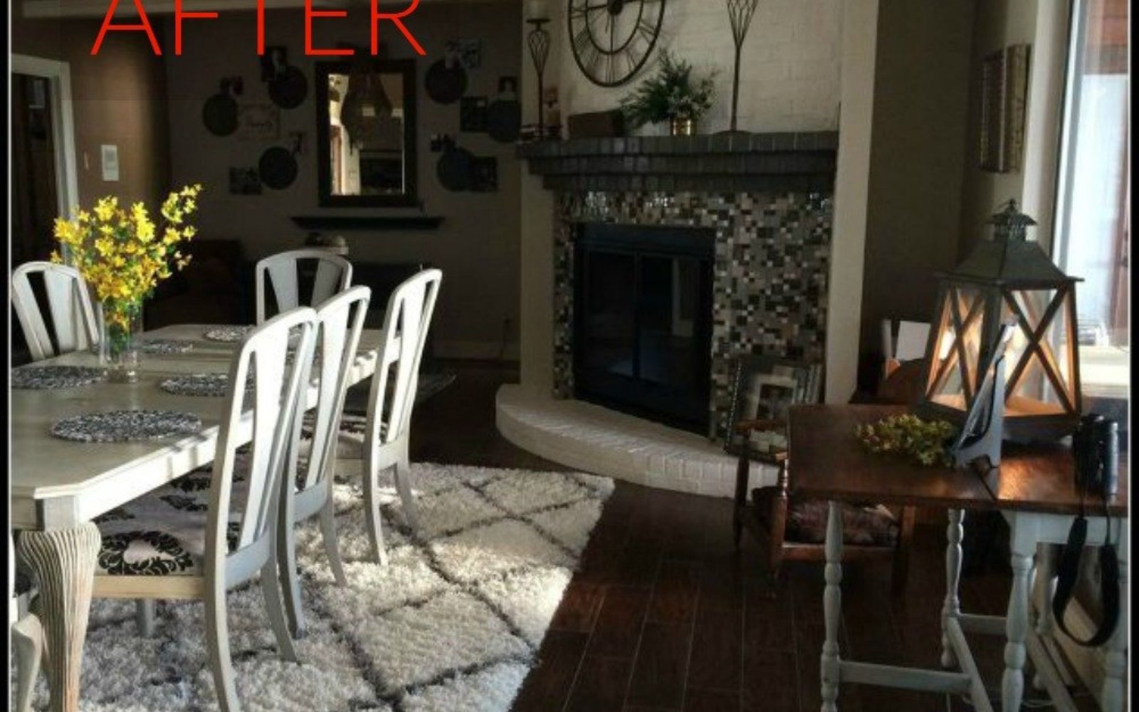 s 10 gorgeous ways to transform a brick fireplace without replacing it, concrete masonry, fireplaces mantels, The fix Spray paint the brass and add tile