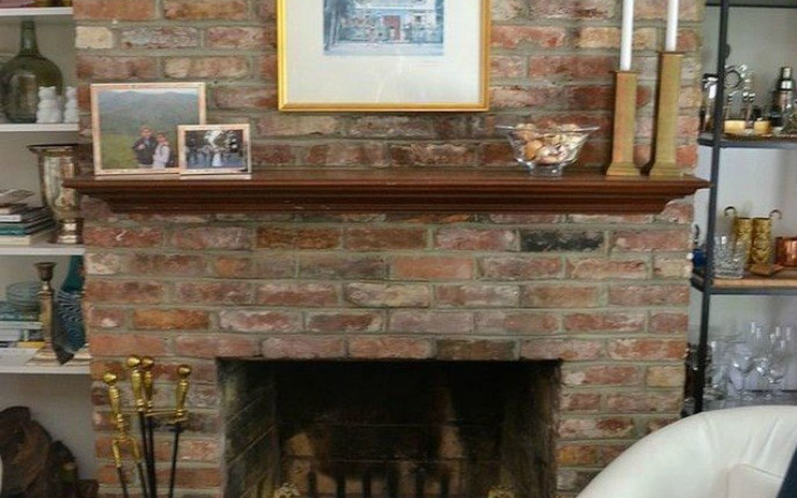 s 10 gorgeous ways to transform a brick fireplace without replacing it, concrete masonry, fireplaces mantels, The problem The brick color doesn t match