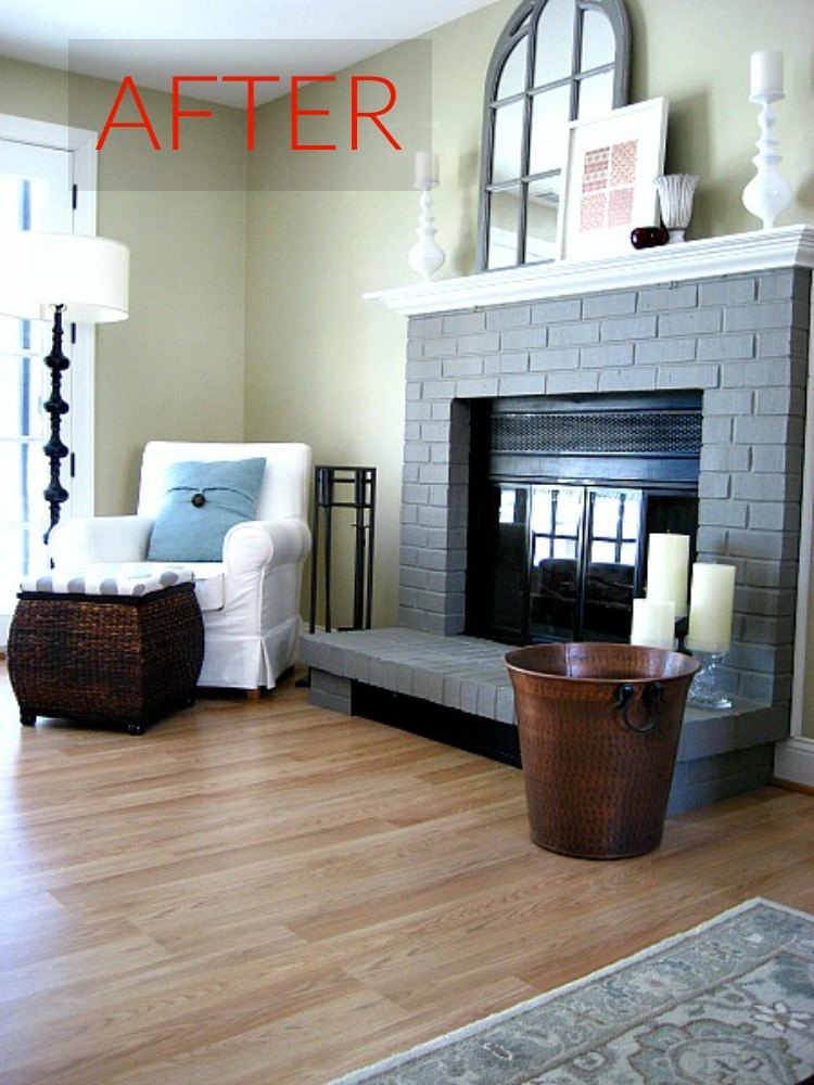 10 gorgeous ways to transform a brick fireplace without for How to mix grey paint