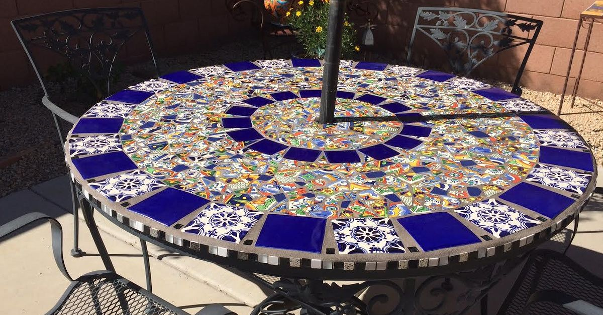 Mosaic tile patio table hometalk - Basics mosaic tiles patios ...