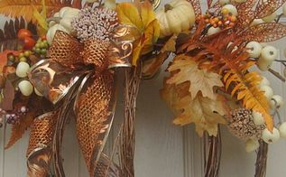 decorate for fall by making a grapevine garland pumpkin wreath, crafts, seasonal holiday decor, wreaths