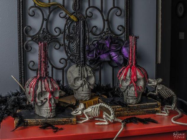Diy Concrete Skull Candle Holder Concrete Masonry Crafts Halloween Decorations Home Decor