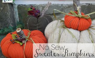 no sew sweater pumpkins, crafts, repurposing upcycling, seasonal holiday decor, storage ideas