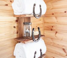 organize your bathroom with this rustic storage solution, architecture, bathroom ideas, organizing, repurposing upcycling, rustic furniture, shelving ideas, small bathroom ideas, storage ideas
