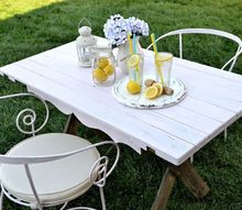 diy farmhouse table for two with a little bit of chicness , painted furniture