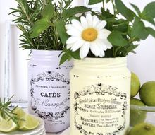 easy seasonal decorating with jars flowers fruits and fresh herbs, gardening
