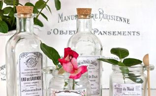 diy vintage french apothecary jars, crafts, decoupage, home decor, mason jars, painted furniture, seasonal holiday decor, shabby chic