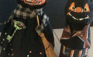 coffee creamer bottle halloween figures, halloween decorations, painted furniture, seasonal holiday decor, Halloween Buddies