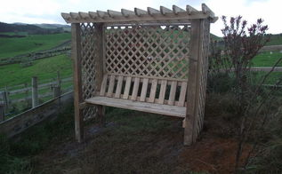 pergola arbor seat, gardening, outdoor furniture, outdoor living