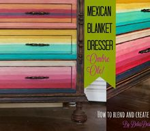 mexican blanket dresser how to blend color with clay based paint, chalk paint, how to, paint colors, painted furniture, repurposing upcycling