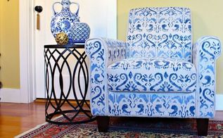 no sew upholstered chair makeover, home decor, living room ideas, painted furniture, repurposing upcycling