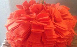 rag pumpkin, crafts, seasonal holiday decor, Finished Pumpkin