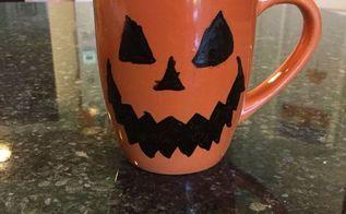 easy halloween mugs , crafts, halloween decorations, repurposing upcycling, seasonal holiday decor