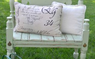 diy bed frame bench, outdoor furniture, painted furniture
