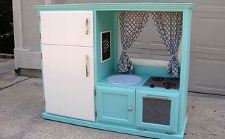 turn an old cabinet into a kid s diner, kitchen cabinets, kitchen design