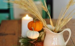 barn wood autumn rustic centerpiece, outdoor living, seasonal holiday decor