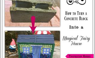 how to create a fairy house from a concrete block, concrete masonry, crafts, gardening, how to, outdoor living