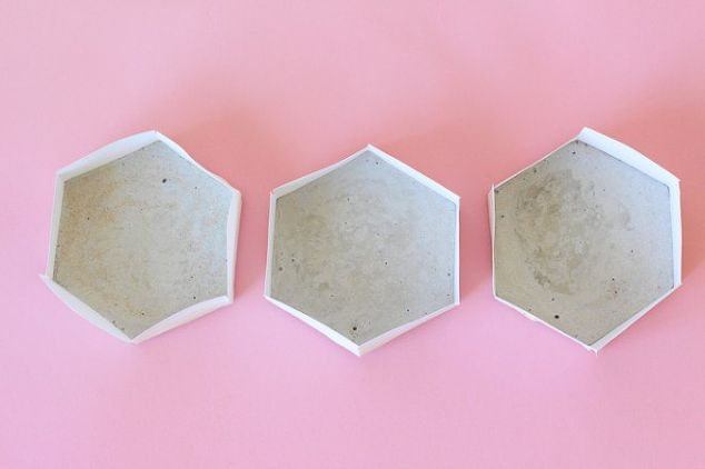 Simple diy cement coasters hometalk for How to make concrete coasters
