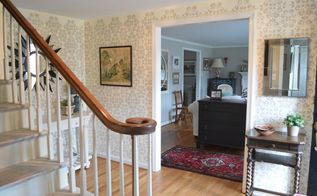 from busy stenciled to 2017 calm, bedroom ideas, chalk paint, closet, fireplaces mantels, foyer, home decor, painting, wall decor