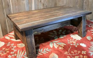 diy barn wood rustic coffee table w pioneer wood patina, home decor, outdoor living, painted furniture, painting, repurposing upcycling, woodworking projects