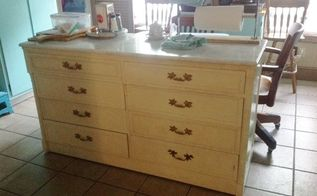 re purposed cabinet into kitchen island, kitchen cabinets, kitchen design