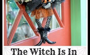 the witch is in diy halloween wreath, crafts, halloween decorations, seasonal holiday decor, wreaths