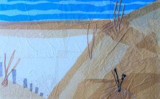 plastic bag art on styrofoam canvas , crafts