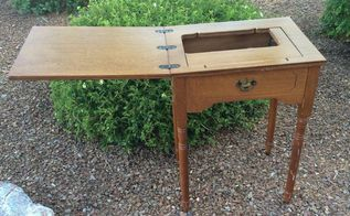 a sewing desk and milk paint, painted furniture, painting, repurposing upcycling
