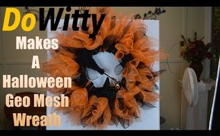 how to make a halloween wreath, crafts, halloween decorations, how to, seasonal holiday decor, wreaths