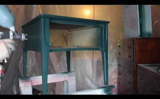 paint furniture using a hvlp spray gun video, painted furniture