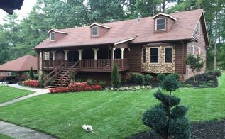 q paint home exterior and update porch, curb appeal, paint colors, painting, porches, The front of the house