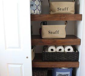 Diy Covers For Wire Shelving, Bathroom Ideas, Closet, Organizing, Shelving  Ideas,