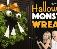 how to make a pine cone monster, gardening, how to, woodworking projects