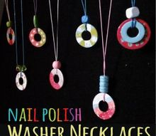 how to make washer necklaces diy jewelry kids craft, appliances, crafts, how to
