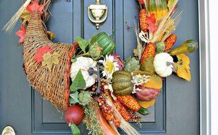 make a cornucopia fall wreath, crafts, wreaths