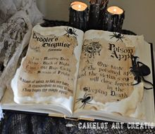 diy spell book, crafts, halloween decorations